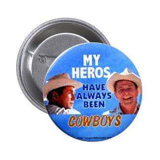 Payasos del vaquero - botón