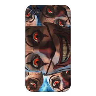 Payasos malvados con los ojos que bombean iPhone 4/4S carcasa