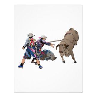 Payasos y Bull-2 sin texto Membrete A Diseño