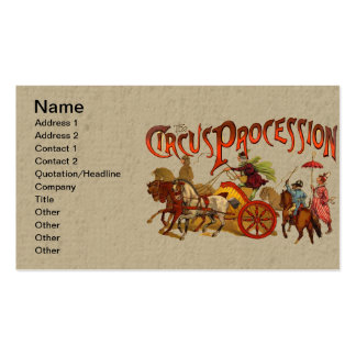 Payasos y caballos de circo del vintage plantilla de tarjeta de visita