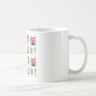 Payasos y tienda de circo inconsútiles taza