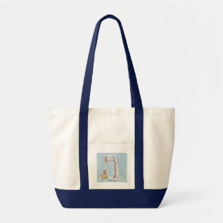 Payback Time - Bird dropping on Cat! Canvas Bags
