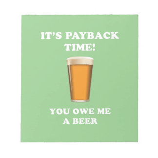 Payback Time Notepad