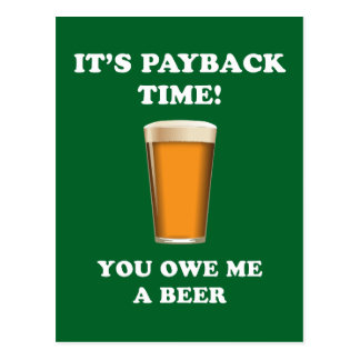 Payback Time Postcard