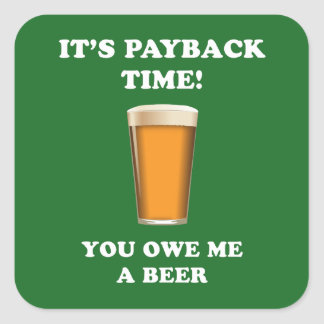Payback Time Square Sticker