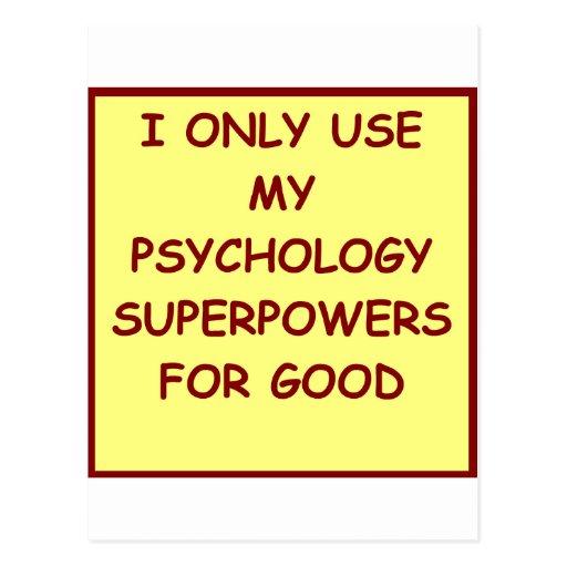 paychology psychologist post card
