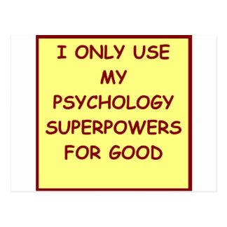 paychology psychologist postcard