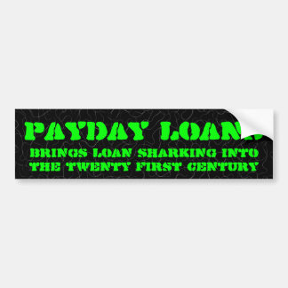 Payday loans firms are loan sharks bumper sticker