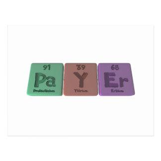 Payer-Pa-Y-Er-Protactinium-Yttrium-Erbium.png Postcard
