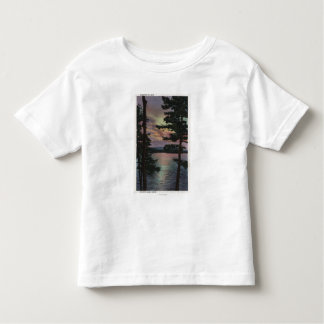 Payette Lake, ID - Evintide on Lake Scene Toddler T-shirt