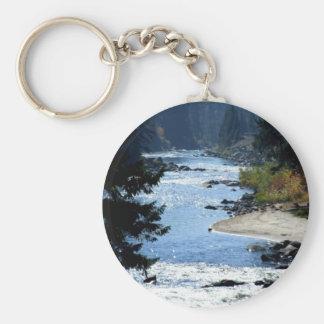 Payette River Basic Round Button Keychain