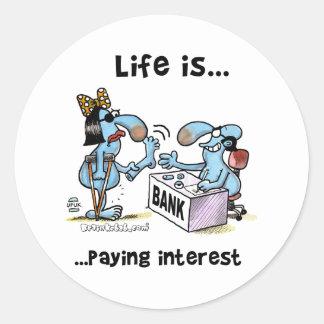 payin_interest2 classic round sticker