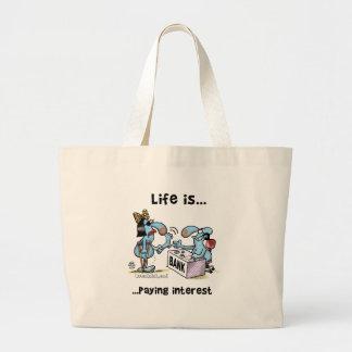 payin_interest2 large tote bag