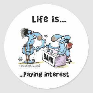 payin_interest classic round sticker