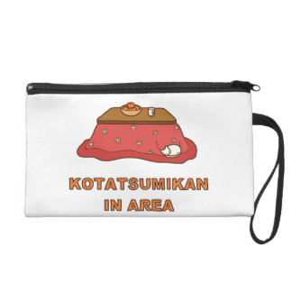 < Paying attention to foot warmer tangerine Wristlet Purse