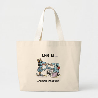 Paying Interest 2 Large Tote Bag