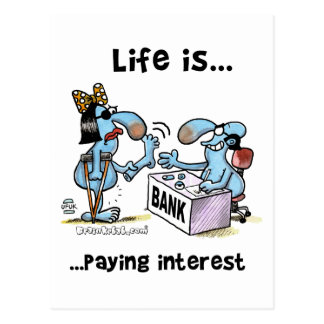 Paying Interest 2 Postcard