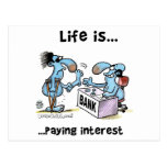 Paying Interest Post Cards