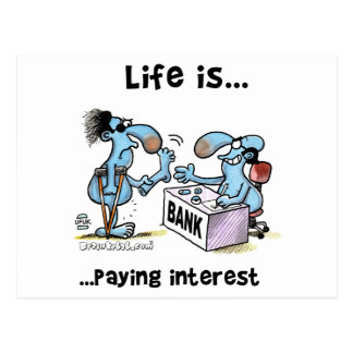 Paying Interest Postcard