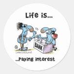 Paying Interest Round Sticker