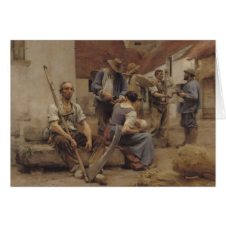Paying the Harvesters, 1882 Card