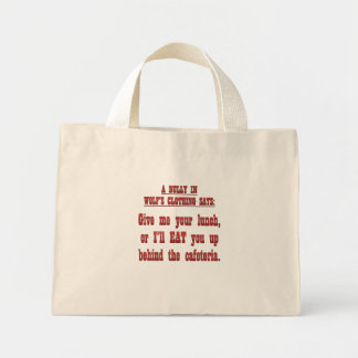 Paying tribute to a bully mini tote bag