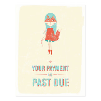 Payment Due Postcards