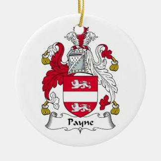Payne Family Crest Ceramic Ornament