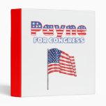Payne for Congress Patriotic American Flag 3 Ring Binder