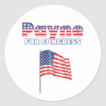 Payne for Congress Patriotic American Flag Stickers