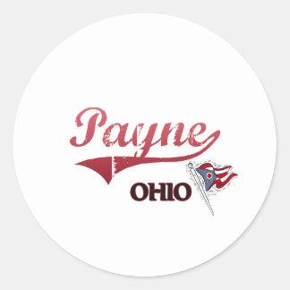 Payne Ohio City Classic Classic Round Sticker