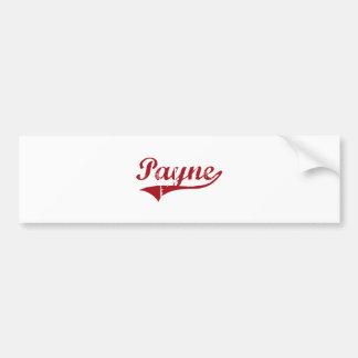 Payne Ohio Classic Design Car Bumper Sticker