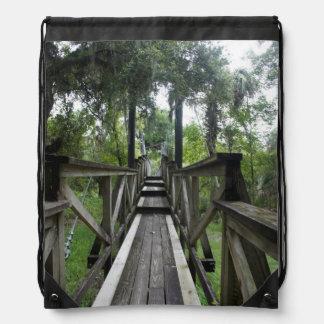 Paynes Creek Suspension Bridge Drawstring Bag