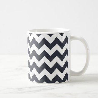 Paynes Grey Chevron Coffee Mug