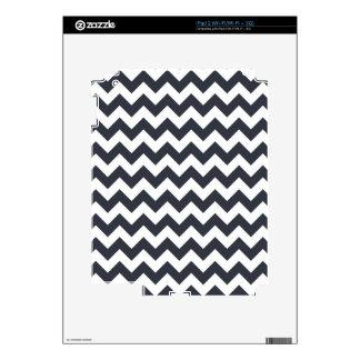 Paynes Grey Chevron Skins For iPad 2