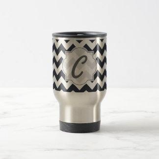Paynes Grey Chevron with Custom Text Coffee Mug