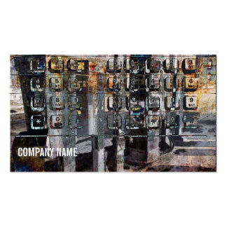 payphone - techno urban collage business card
