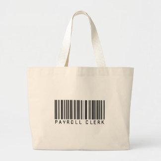 Payroll Clerk Bar Code Large Tote Bag