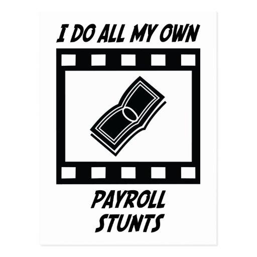 Payroll Stunts Post Card