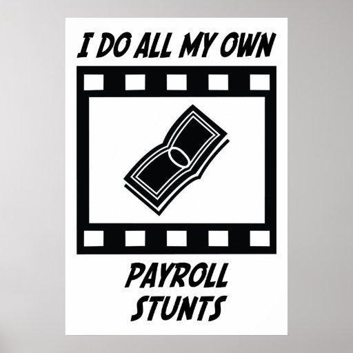 Payroll Stunts Poster