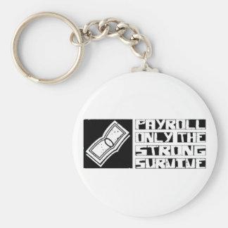 Payroll Survive Basic Round Button Keychain