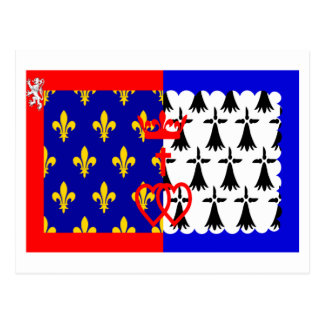 Pays-de-la-Loire flag Postcard