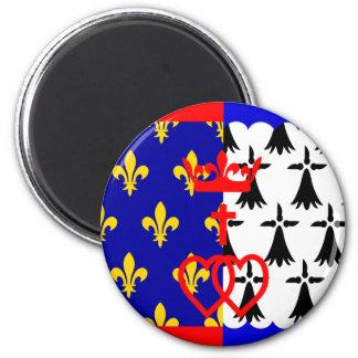 Pays-De-La-Loire, France 2 Inch Round Magnet