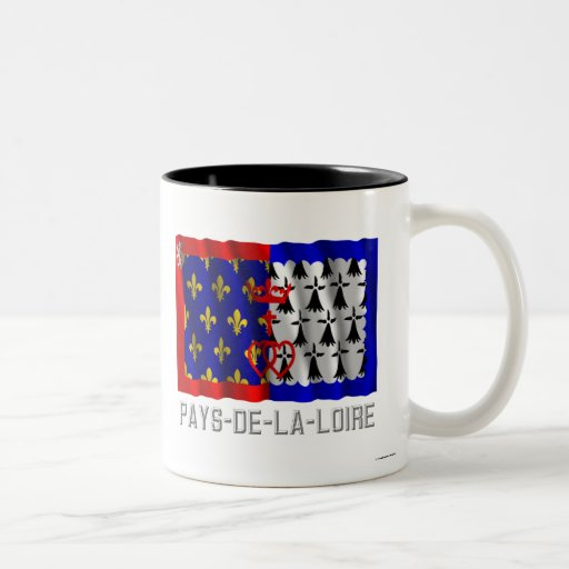 Pays-de-la-Loire que agita la bandera con nombre Tazas De Café