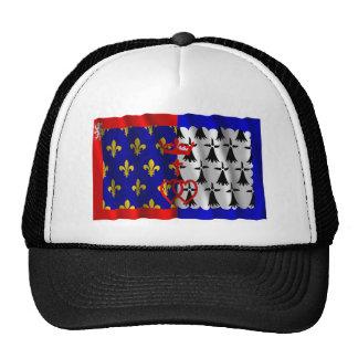 Pays-de-la-Loire waving flag Hats