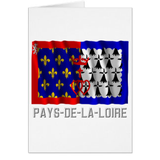 Pays-de-la-Loire waving flag with name Card