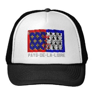 Pays-de-la-Loire waving flag with name Mesh Hat