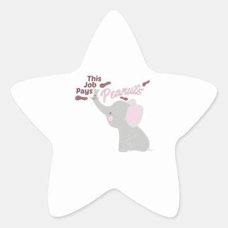 Pays Peanuts Star Sticker