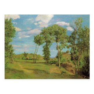 Paysage au bord du Lez 1870, Frederick Brazille Postcard
