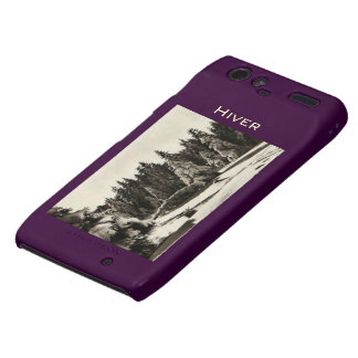 Paysage d'Hiver Winter in Jura France mountains Droid RAZR Cases